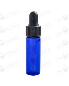 1 Dram Cobalt Blue Glass Vial with Droppers (12-pack)