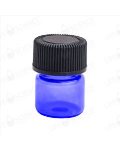 1 ml Cobalt Blue Glass Bottle with Reducer (12-pack)