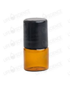 1 ml Amber Glass Bottle with Steel Roll-on (12-pack)