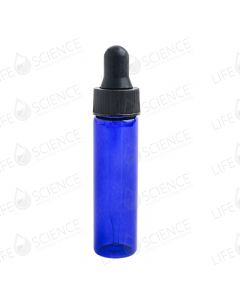 2 Dram Cobalt Blue Glass Vial with Dropper (12-pack)