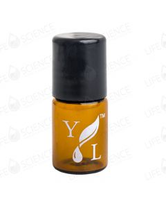 2 ml Amber Glass Bottle with Steel Ball Roll-on (12-pack) Branded