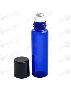 10 ml Cobalt Blue Steel Ball Roll-on Bottles (6-pack)