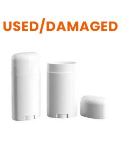 DAMAGED Empty Plastic Deodorant Container (Single)