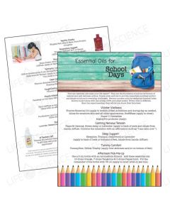 Essential Oils for School Days Tear Pad (50 Sheets)