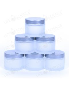 Frosted Jars with Silver Lids (6 pack)