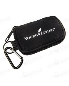 Aroma Tote 8 vial 2-ml bottles Keychain Pouch (Black)