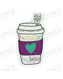 Die Cut Sticker - No Coffee No Talkie - Lemon Drop