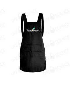 Young Living Apron with Adjustable Buttons - Black